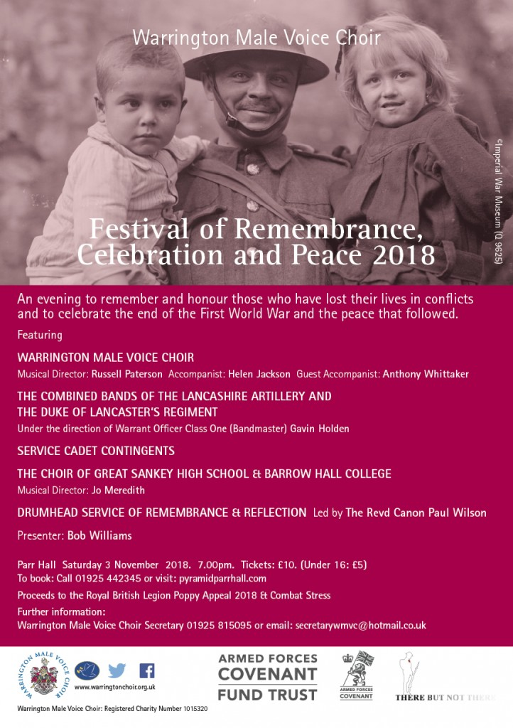 An evening to remember the fallen and celebrate the peace.